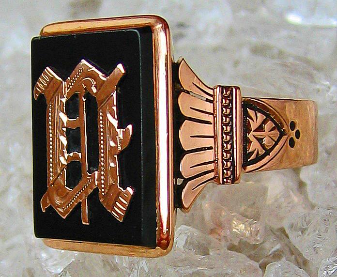 Goldringe Herrenring Wappen Adelsring 14k 585 Gold Ring Adelswappen