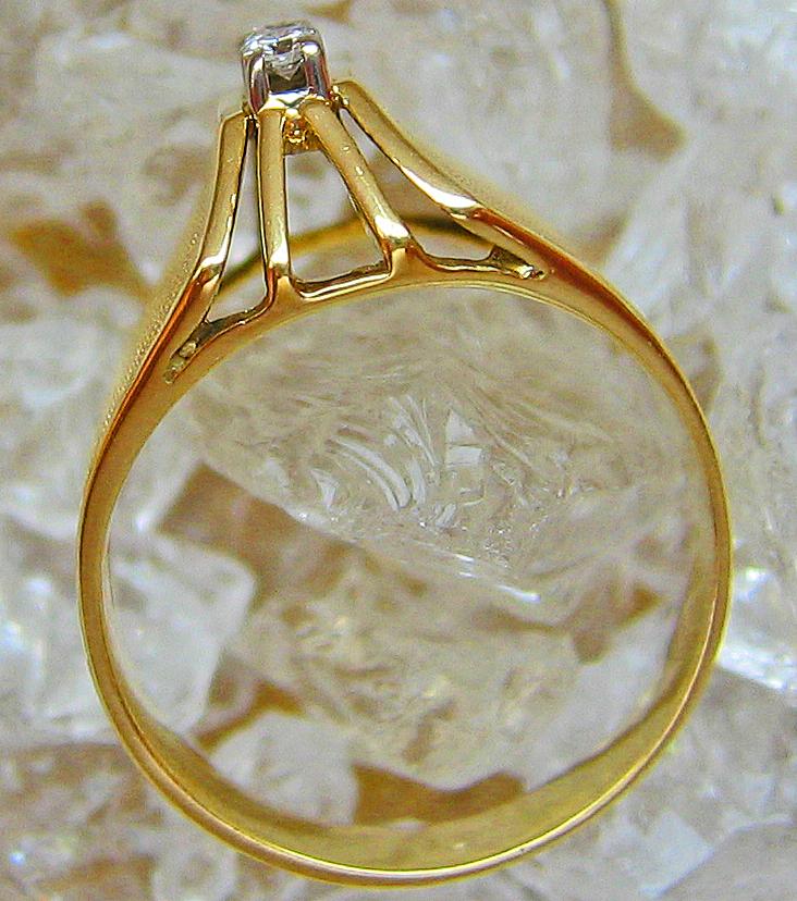 Goldringe 14kt 585 Gold Ring Damen Herren Ring Diamant Schmuck